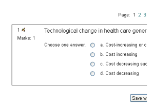 Multiple choice question in Moodle quiz